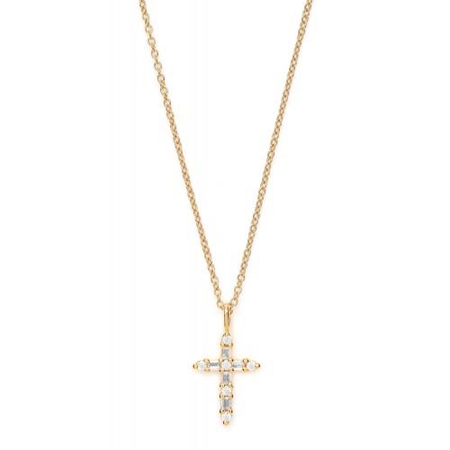 Halskette Kreuz mit Zirkonia - 925 Sterlingsilber