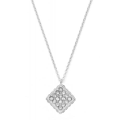 Halskette Rhombus mit Zirkonia - 925 Sterlingsilber