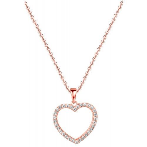 Muttertagsgeschenk - Big Heart Halskette - 925 Sterlingsilber