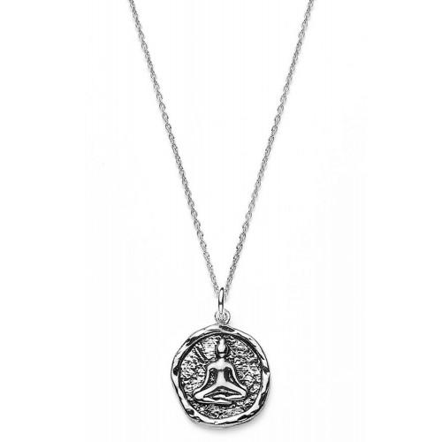 Münzkette Buddha - 925 Sterlingsilber