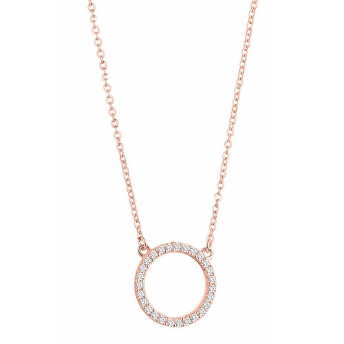 """Halskette Kreis  """"Sparkling Circle"""" - 925 Sterlingsilber"""