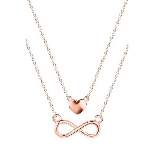 Halskette Double Chain Infinity-Love - 925 Sterlingsilber
