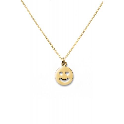 "Kette mit Emoji ""Love""   925 Sterlingsilber"