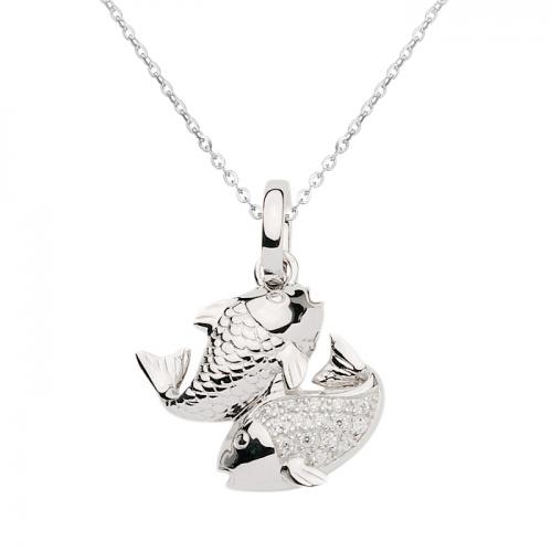 Sternzeichen-Kette Fische | 925 Sterlingsilber mit Zirkonia