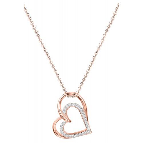 Halskette Double Heart - 925 Sterlingsilber
