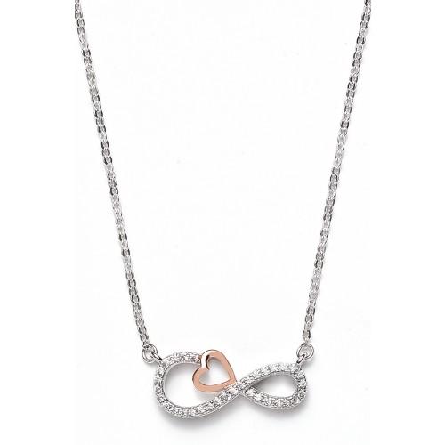 Halskette Infinity Herz 925 Sterlingsilber