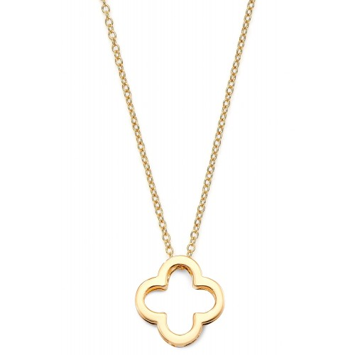 Halskette mit Kleeblatt Clover of Luck - 925 Sterlingsilber