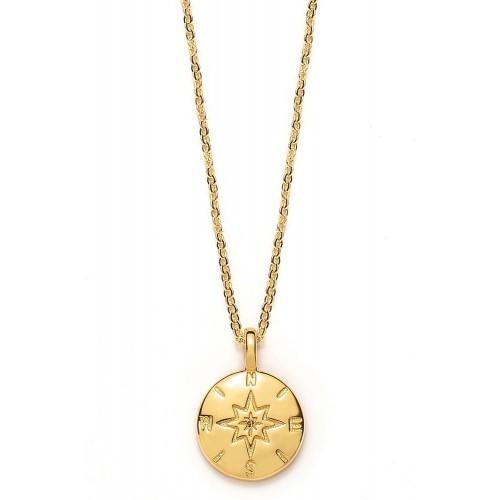 Halskette mit Kompass - 925 Sterlingsilber