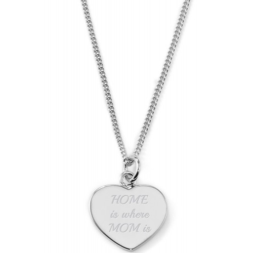 """Gravierbare Herzkette """"Home is where Mom is"""""""