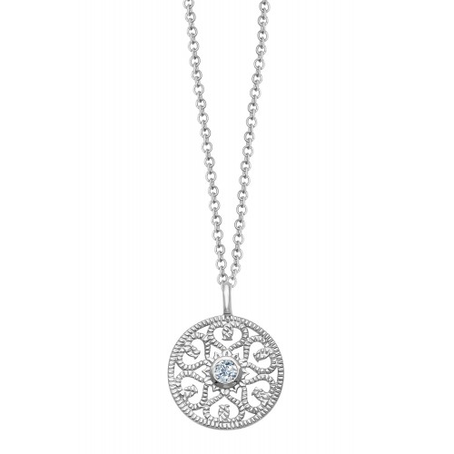 "Halskette ""Ornament mit Zirkonia"" - 925 Sterlingsilber"