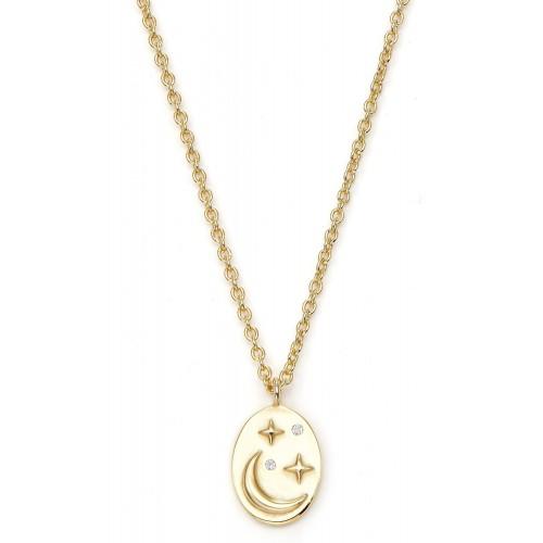 Halskette Luna mit Zirkonia - 925 Sterlingsilber
