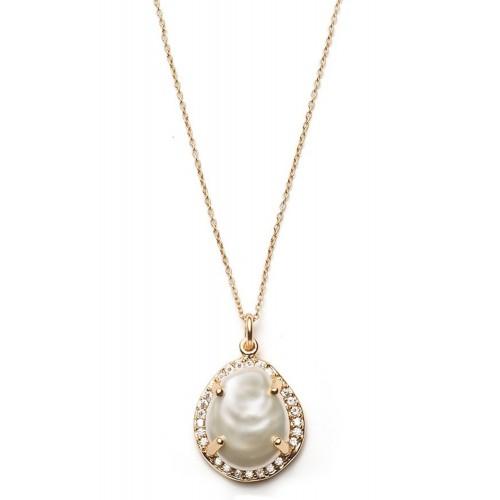 Halskette Perlmutt - 925 Sterlingsilber