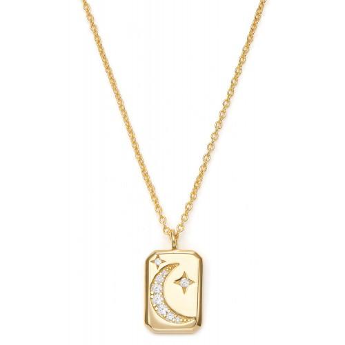 Halskette Nachthimmel mit Zirkonia - 925 Sterlingsilber