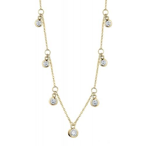 Halskette Seven Zirkonia - 925 Sterlingsilber
