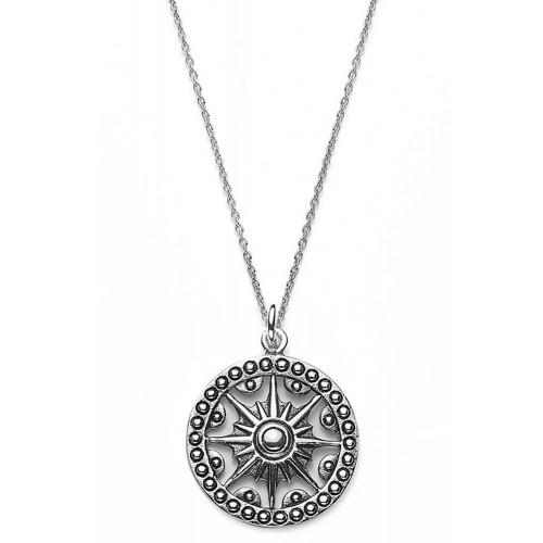 Münzkette Sonne - 925 Sterlingsilber