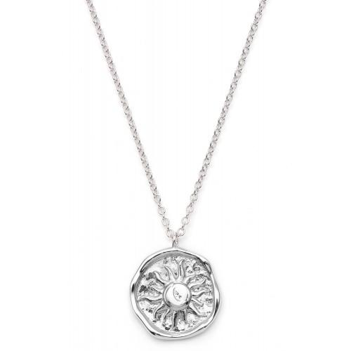 Gravierbare Münzkette Sonnengöttin - 925 Sterlingsilber