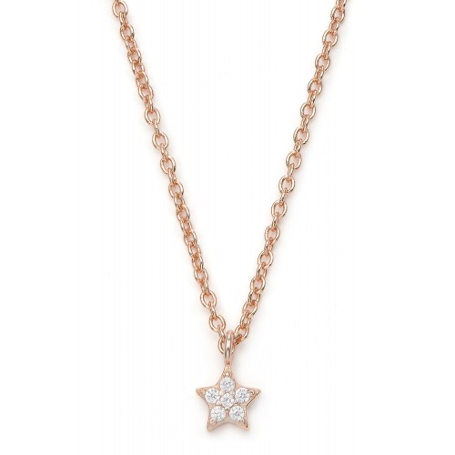 Halskette Estrella mit Zirkonia - 925 Sterlingsilber