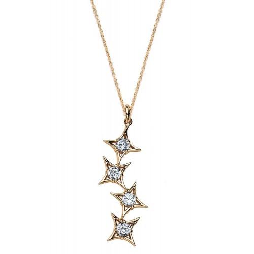 Halskette Sternschnuppen - 925 Sterlingsilber