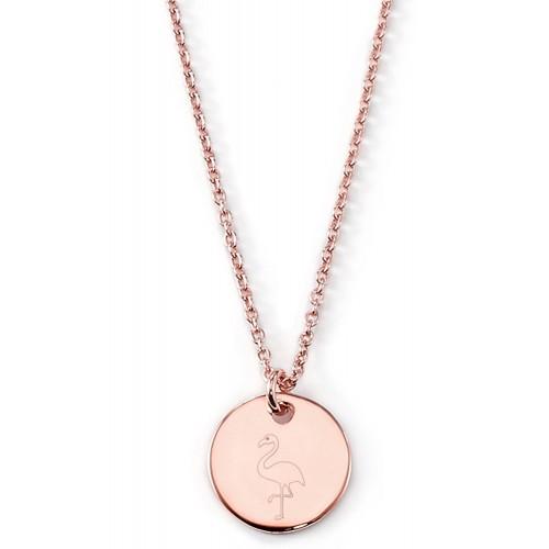 Gravierbare Halskette Flamingo | 925 Sterlingsilber