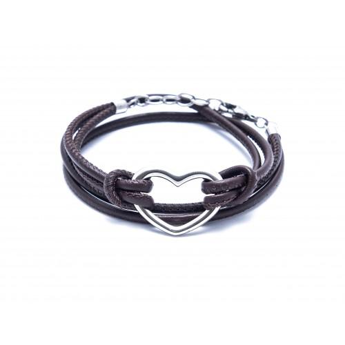 Heart - 925 Sterlingsilber-Grau