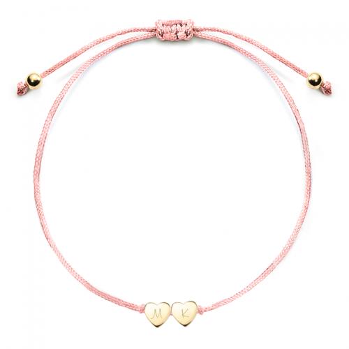 Herz-Armband mit gravierbaren Herzen