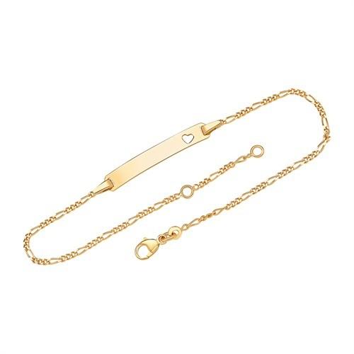 Herz-Armband gravierbar (375 Gelbgold)