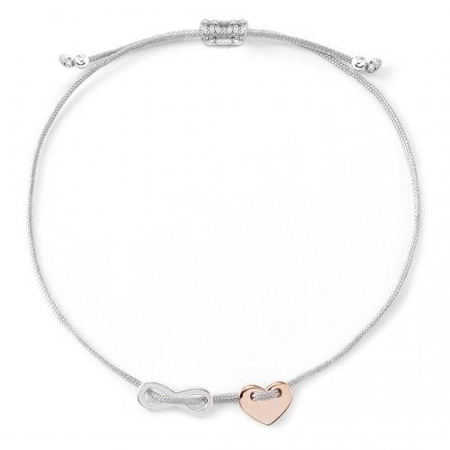 Muttertagsgeschenk - Herzarmband Lovely Infinity - gravierbar