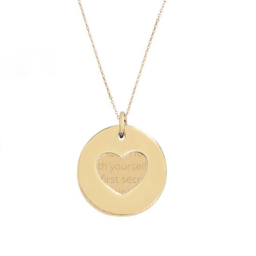 Herzkette Gentle Love Gold - gravierbar - 925 Sterlingsilber
