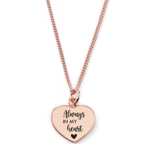 Gravierbare Herzkette Always in my Heart