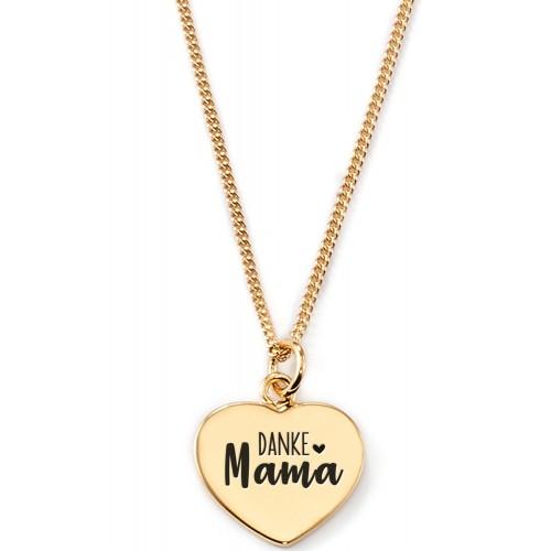 "Gravierbare Herzkette ""Danke Mama"""