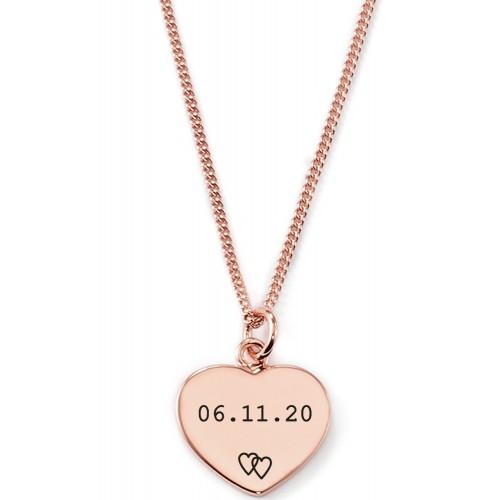 Gravierbare Herzkette mit Datum