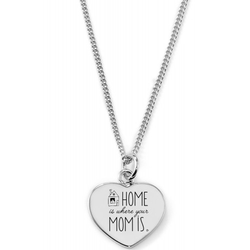 "Gravierbare Herzkette ""Home is where your Mom is"""