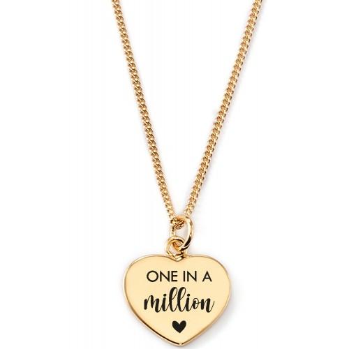Gravierbare Herzkette One in a Million