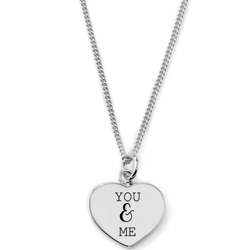 Gravierbare Herzkette You and Me