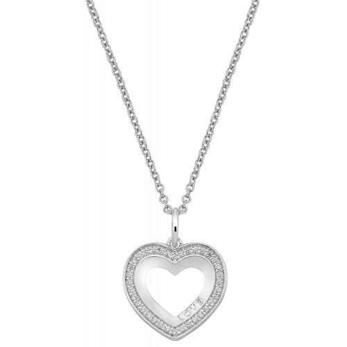Herzkette Love & Sparkle mit Zirkonia - 925 Sterlingsilber