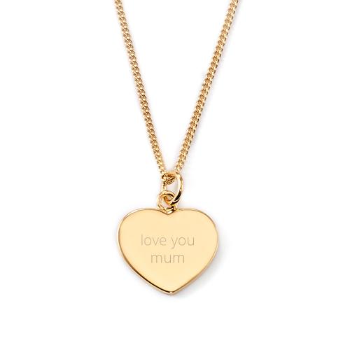 Herzkette - Love you mum - Rückseitengravur möglich