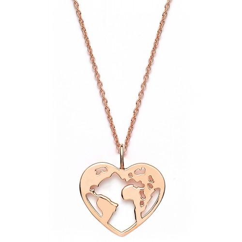 Halskette Weltenherz - 925 Sterlingsilber