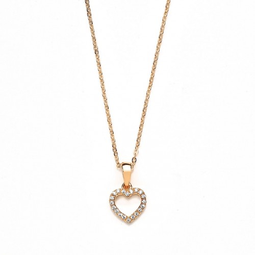 Muttertagsgeschenk - Herzkette Zirkonia - 925 Sterlingsilber