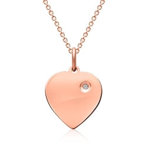 Muttertagsgeschenk - Herzkette mit Zirkonia - 925 Sterlingsilber