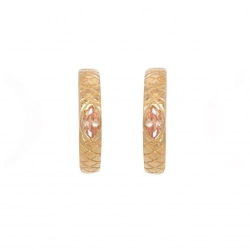 Pink Croco Hoops - Pour Toi Jewelry
