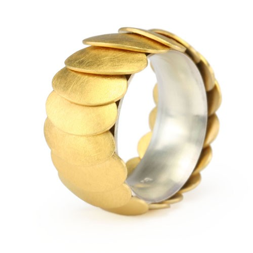 Ring ARMADILLO - Gold, 12 mm
