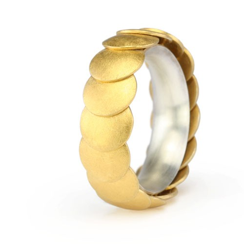 Ring ARMADILLO - Gold 8 mm