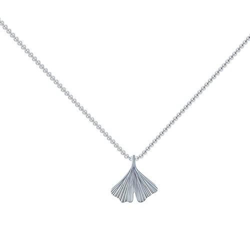 Kette Silber (Silber 925) - Ginko Blatt - Flowery Amoonic