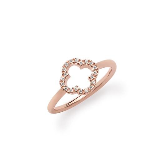 Ring Kleeblatt - 925 Sterlingsilber
