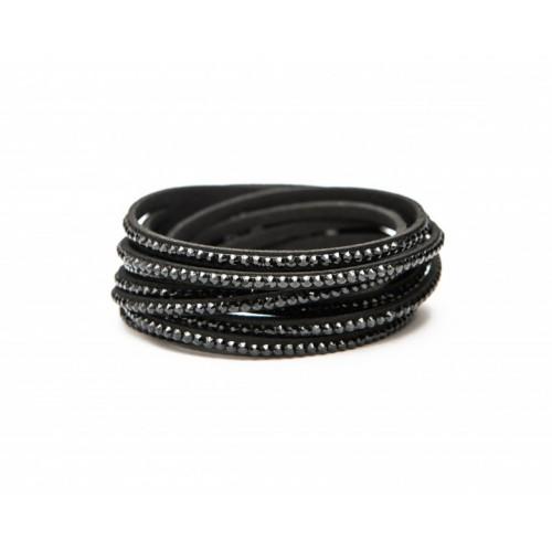 Kristall Armband Schwarz