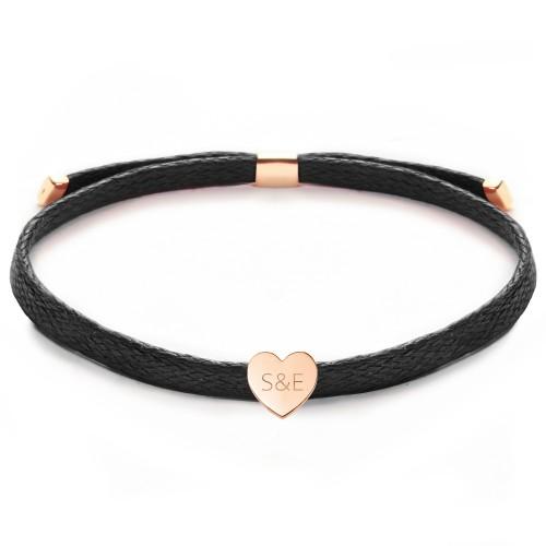 """Armband """"Glossy Heart"""" mit Gravur - 925 Sterlingsilber"""