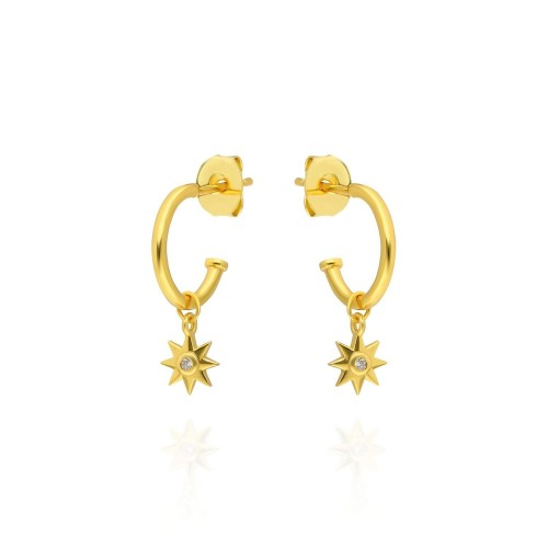 Stern Hoops - Pour Toi Jewelry