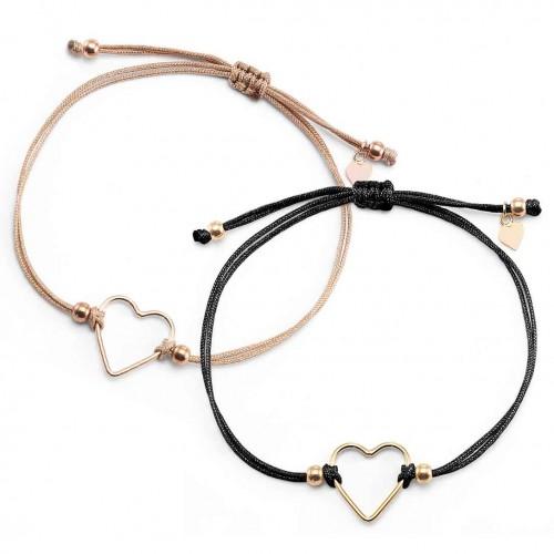 Muttertagsgeschenk-Set - Herz-Armbänder Deep Love | individuell gravierbar