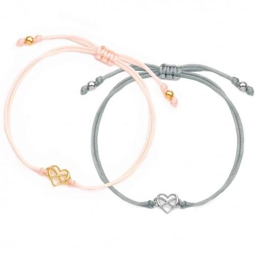 Muttertagsgeschenk-Set - Herzarmbänder mit Infinity  Heartlove