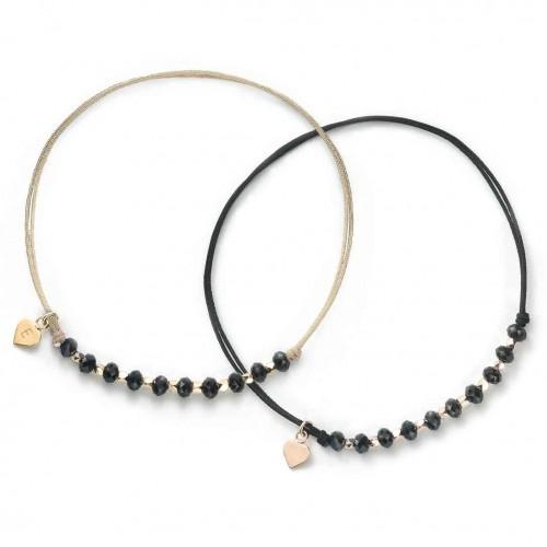 Muttertagsgeschenk-Set - Herz-Armbänder mit Perlen Glamour  - 925 Sterlingsilber
